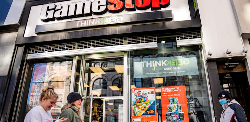 חנות של רשת גיימסטופ / צילום: Associated Press, John Minchillo