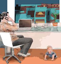 עבודה מהבית / איור: גיל ג'יבלי