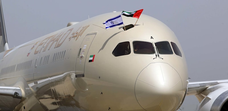 טיסה מסחרית ראשונה של אתיחד בישראל / צילום: סיון פרג'