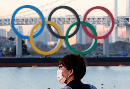 מיצג של הטבעות האולימפיות, בטוקיו / צילום: Reuters, KIM KYUNG-HOON