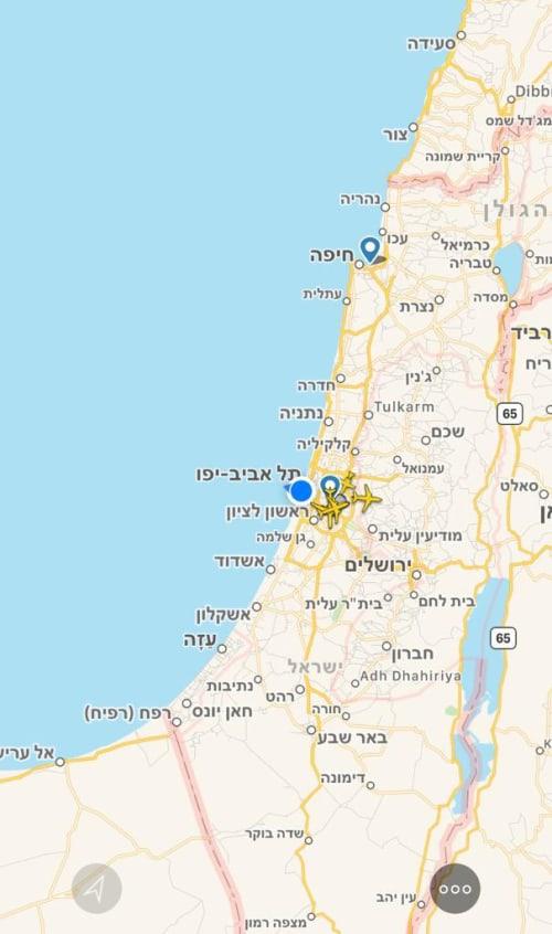 שמי ישראל ריקים ממטוסים / צילום: צילום מסך מFlightradar24
