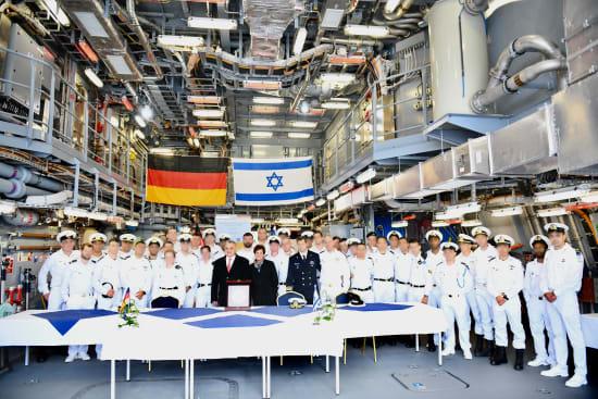 """טקס השקת ספינת אח""""י עוז / צילום: דוברות חיל הים"""