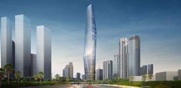 """הדמייה של אחד המגדלים ב=""""IDE TOWERS"""". הבניין הגבוה בישראל / צילום: ישר אדריכלים"""