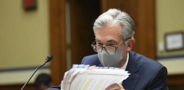 """ג'רום פאוול, יו""""ר הפדרל רזרב. מדרבן את הבנקים להיערך / צילום: Associated Press, Kevin Dietsch"""