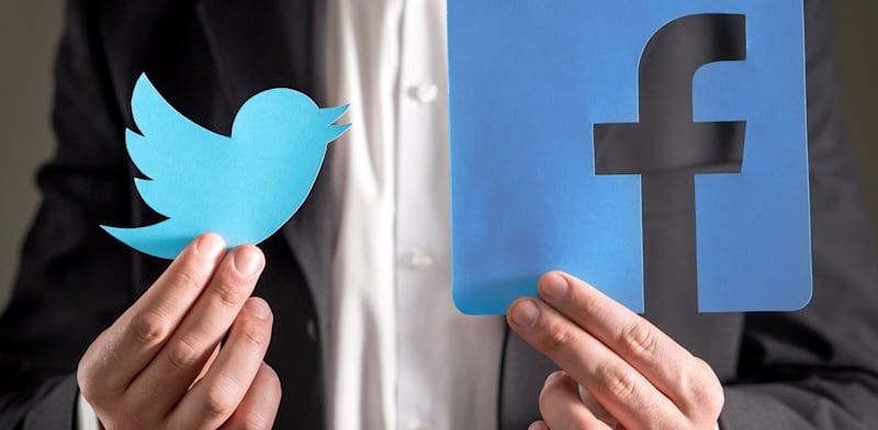 פייסבוק וטוויטר / צילום: Shutterstock, Tero Vesalainen