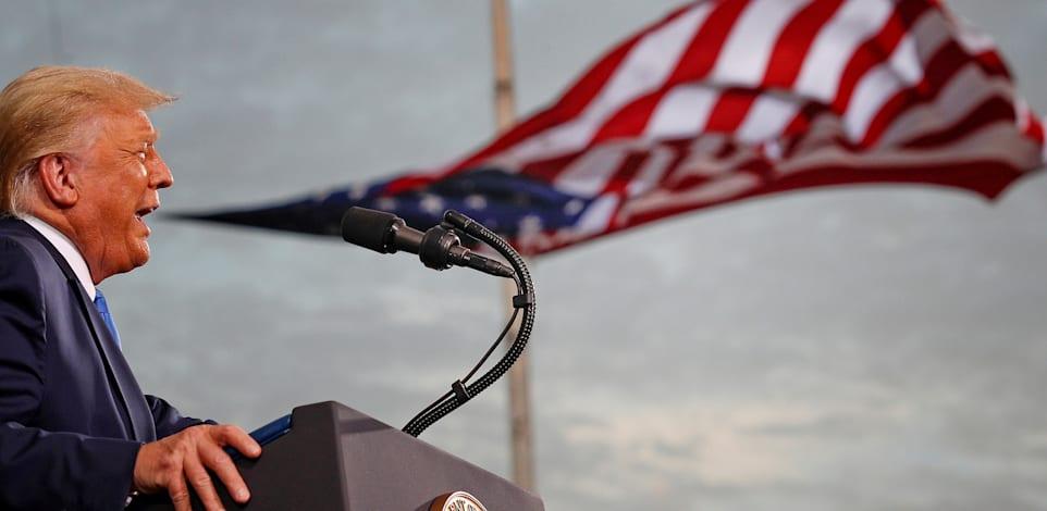 הנשיא טראמפ נואם בג'קסונוויל, פלורידה בספטמבר / צילום: Reuters, Tom Brenner