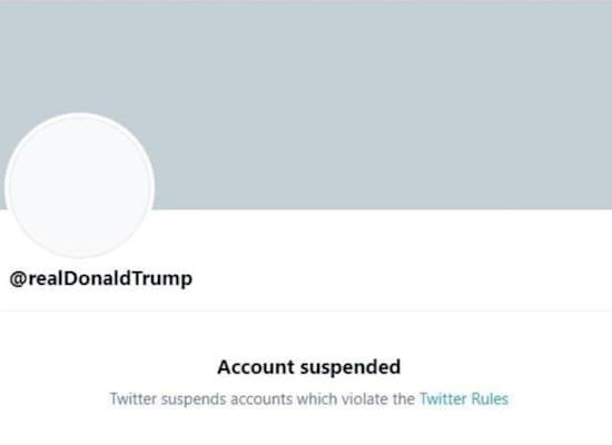 החשבון החסום של טראמפ בטוויטר / צילום: צילום מסך