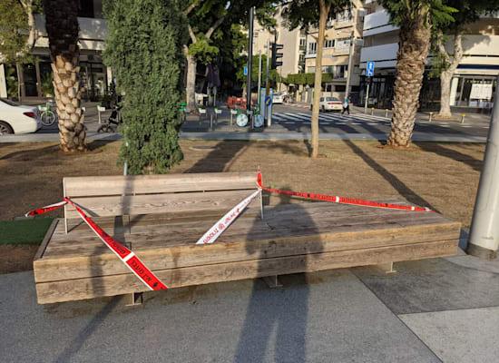 כיכר דיזנגוף חסומה לישיבה / צילום: שני אשכנזי