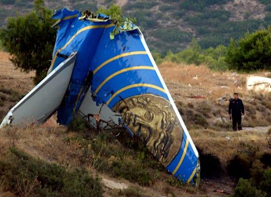 שרידי המטוס של טיסת 522 של הליוס איירווייז / צילום: Associated Press, Thanassis Stavrakis