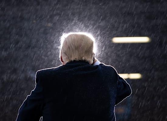 טראמפ הנשיא היוצא / צילום: Associated Press, Evan Vucci