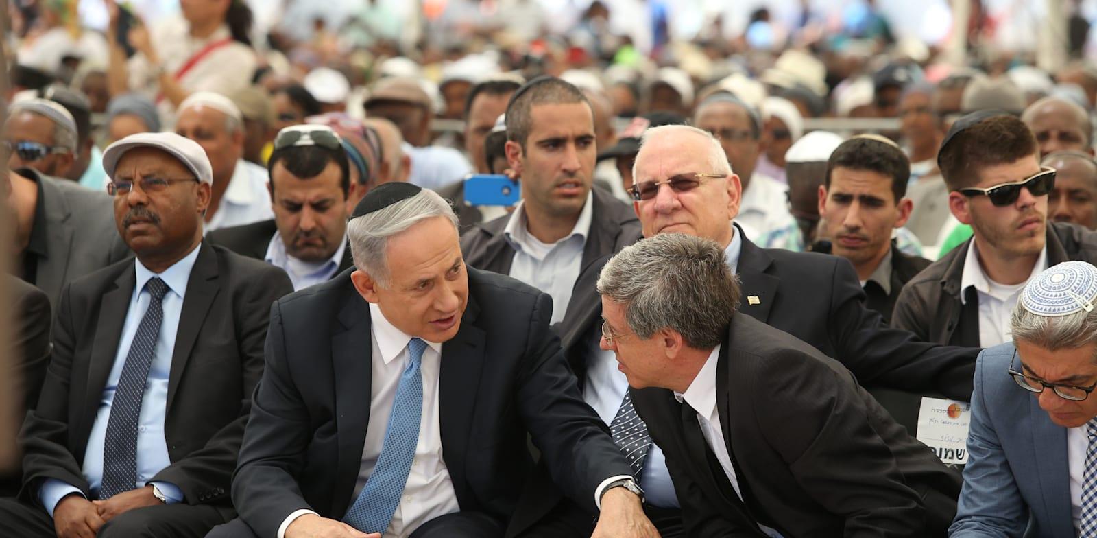 """השופט מני מזוז וראש הממשלה בנימין נתניהו / צילום: עמית שאבי, """"ידיעות אחרונות"""""""