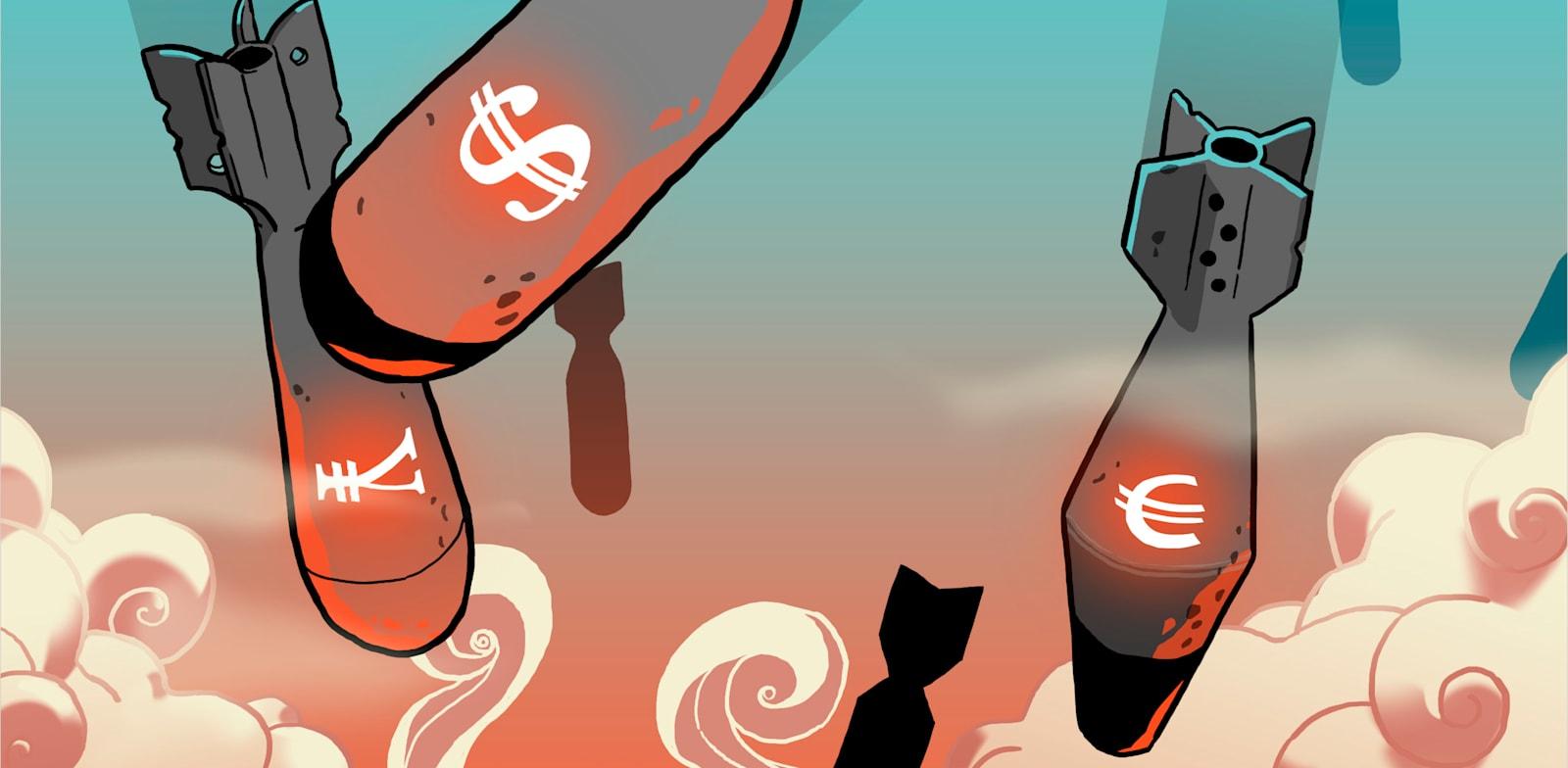 דולר יורו / איור: עומר הופמן