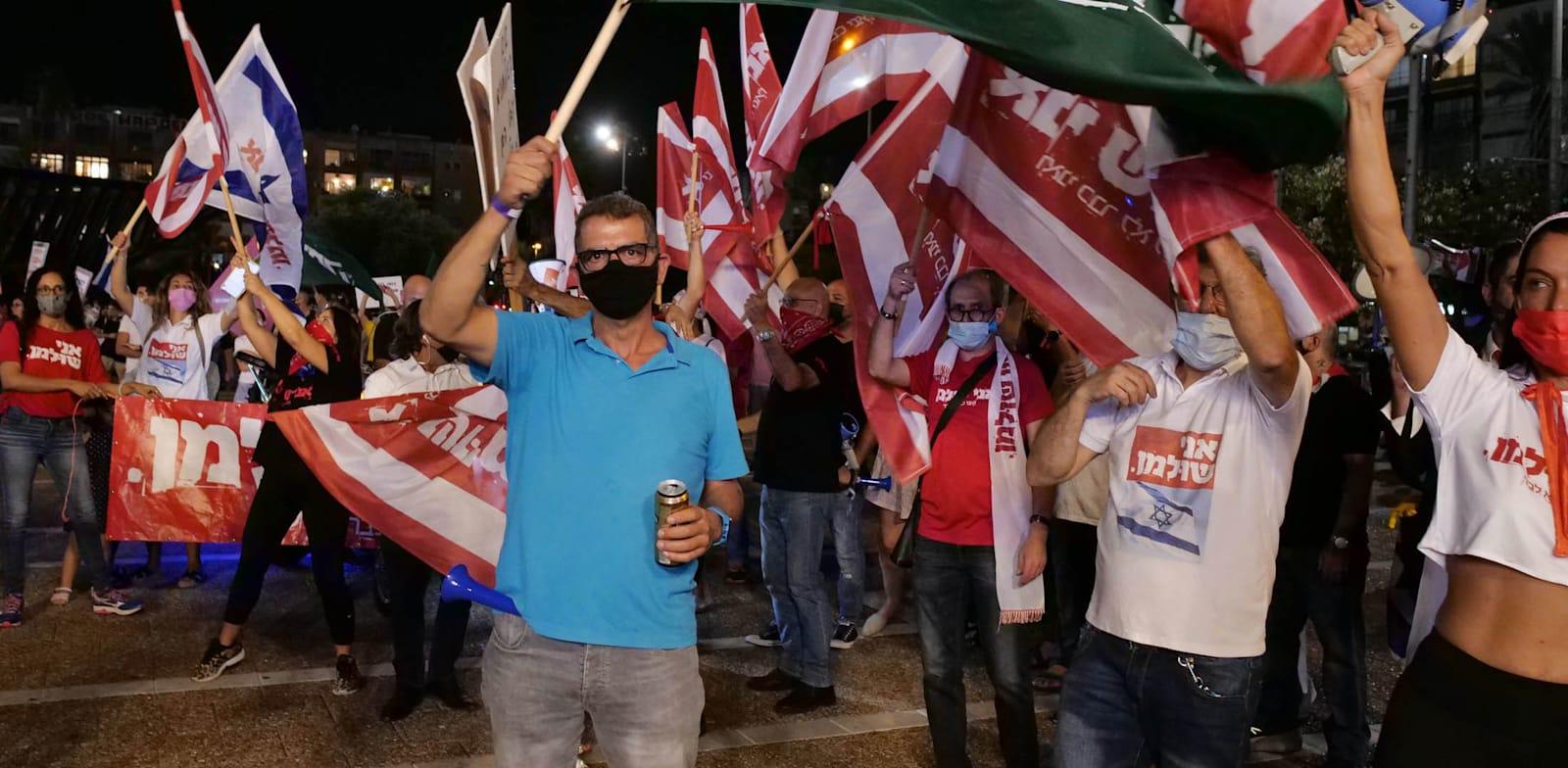 הפגנת העצמאים בשבוע שעבר בתל אביב