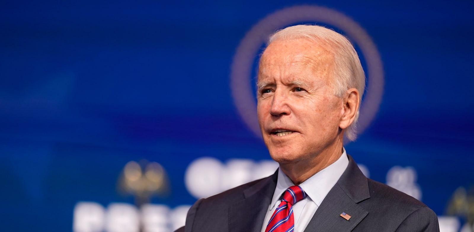 ג'ו ביידן בווילמינגטון, דלאוור בסוף השבוע. המפלגה עשתה מאמץ עליון לאחות קרעים עמוקים, ולהתלכד סביבו. עכשיו הוא חייב להם / צילום: Associated Press, Andrew Harnik