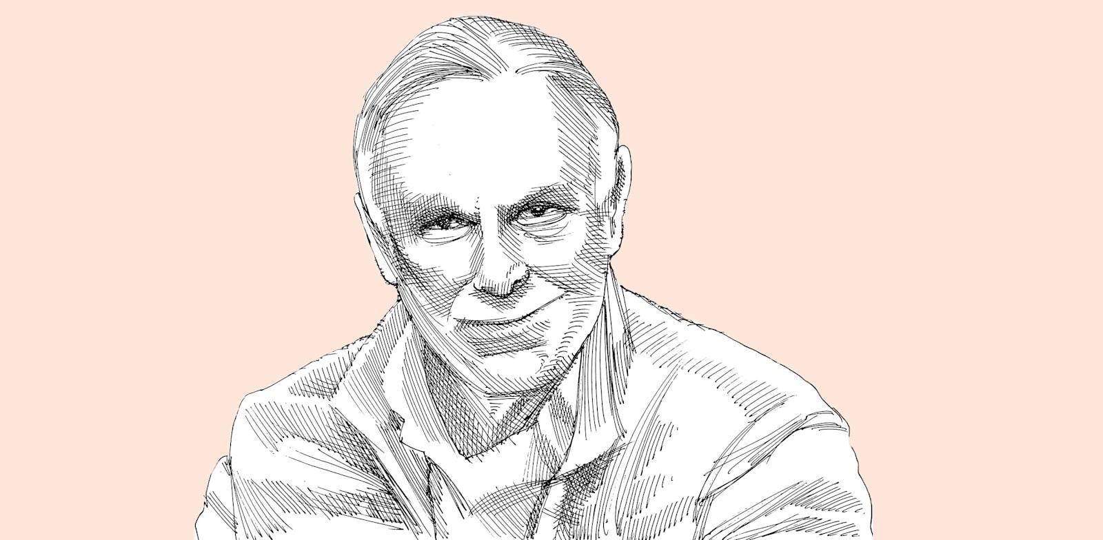 יגאל רבנוף. מאנשי הביטוח המבוססים / איור: גיל ג'יבלי