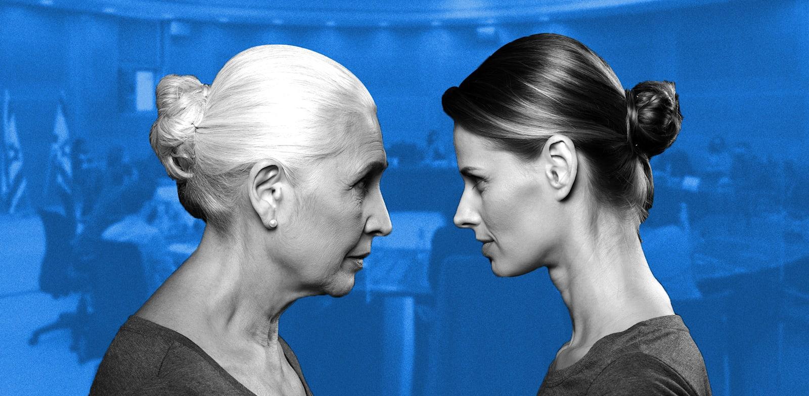 העלאת גיל הפרישה לנשים / צילום: שאטרסטוק (ברקע דוברות הכנסת)