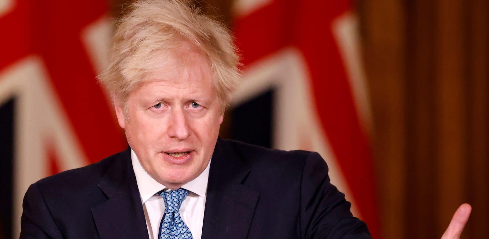 ראש ממשלת בריטניה בוריס ג'ונסון הערב / צילום: Associated Press, Tolga Akmen