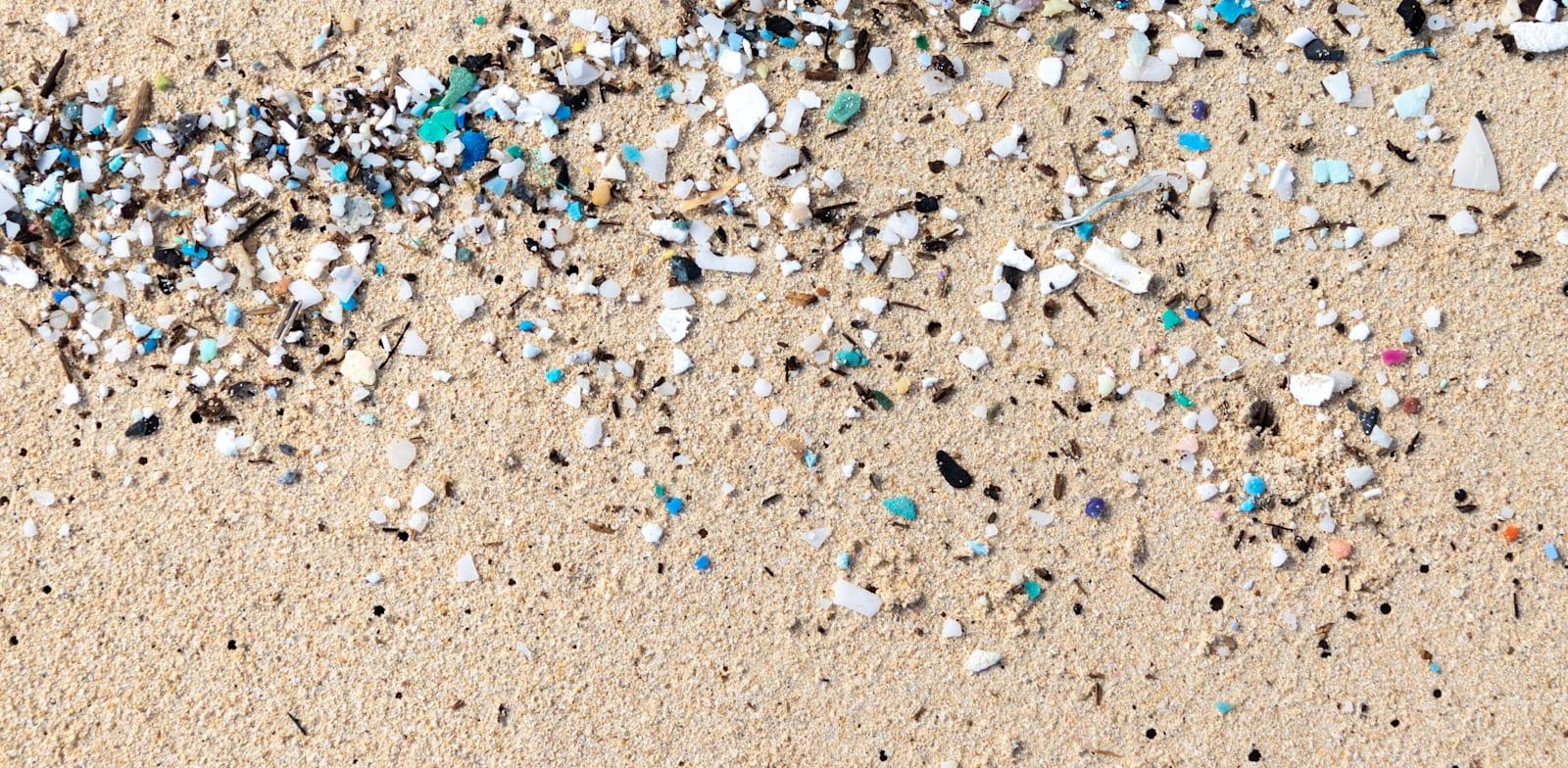 חלקיקי מיקרופלסטיק שנשטפו לחוף / צילום: Shutterstock