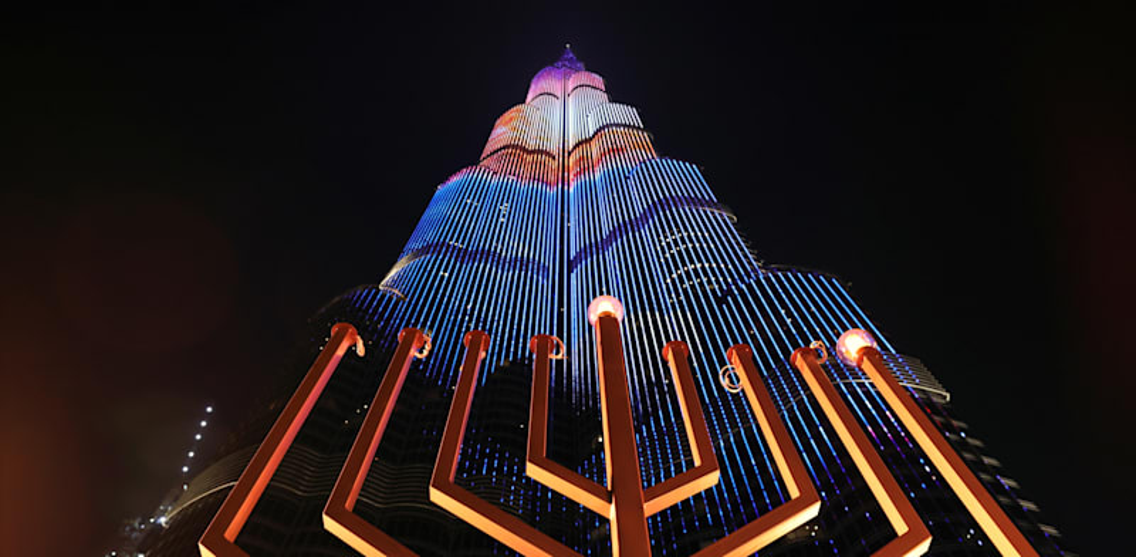 חוגגים חנוכה בדובאי / צילום: Reuters, Christopher Pike