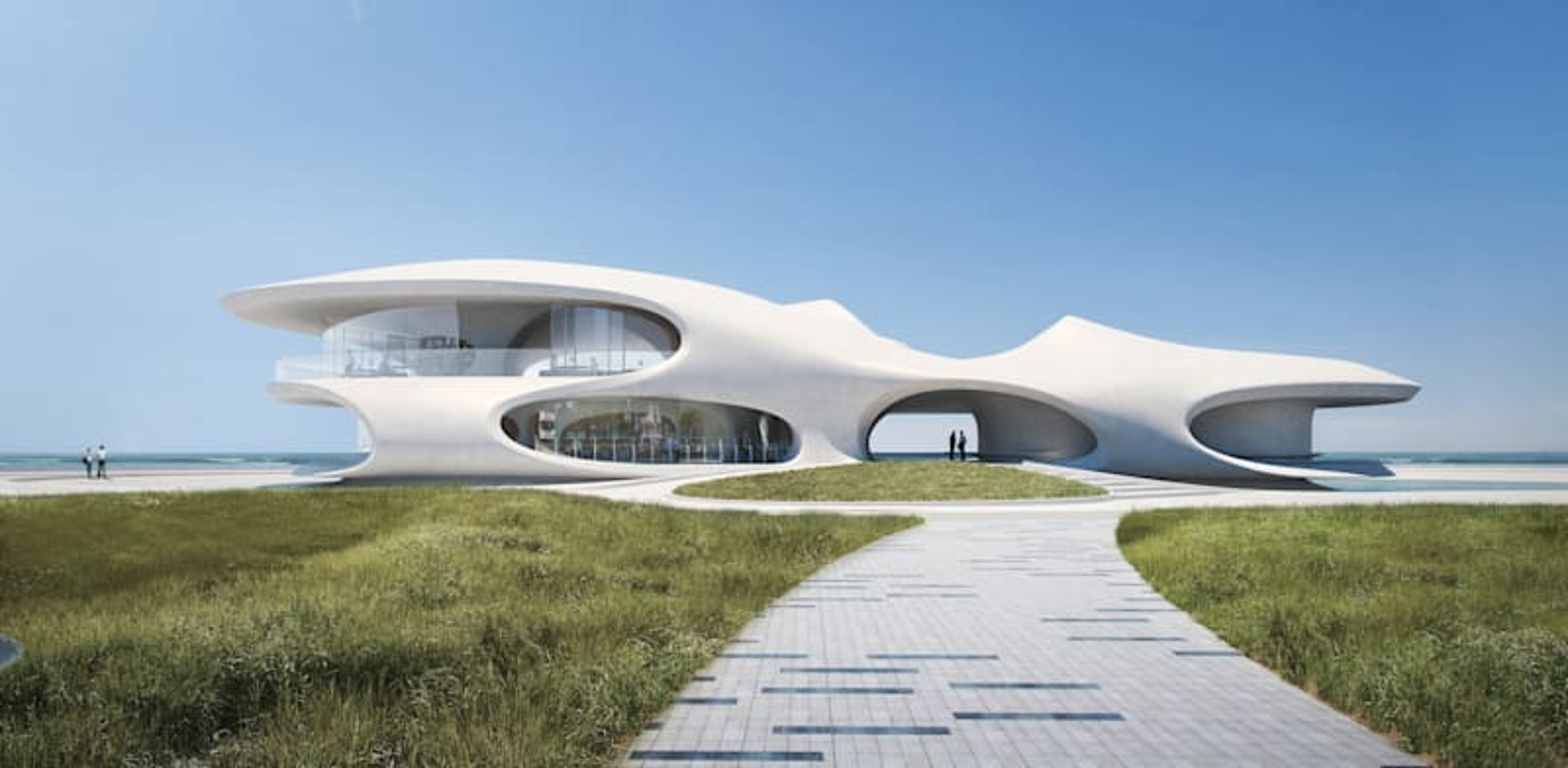 הספרייה בעיר הייקו, באי היינן בסין / הדמיה: SAN
