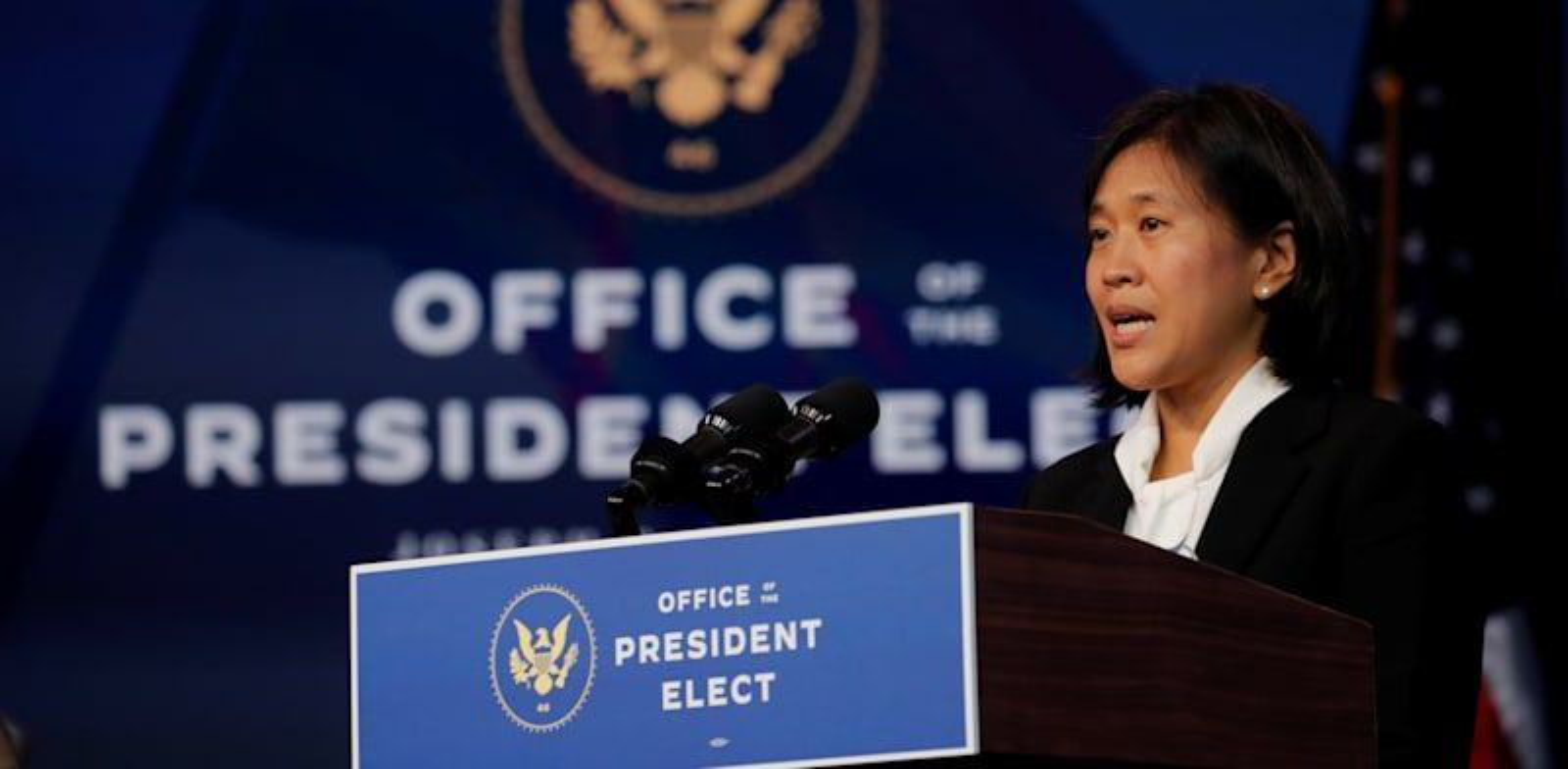 """קתרין טאי, המועמדת של ביידן לנציגת הסחר של ארה""""ב / צילום: Reuters, Mike Segar"""