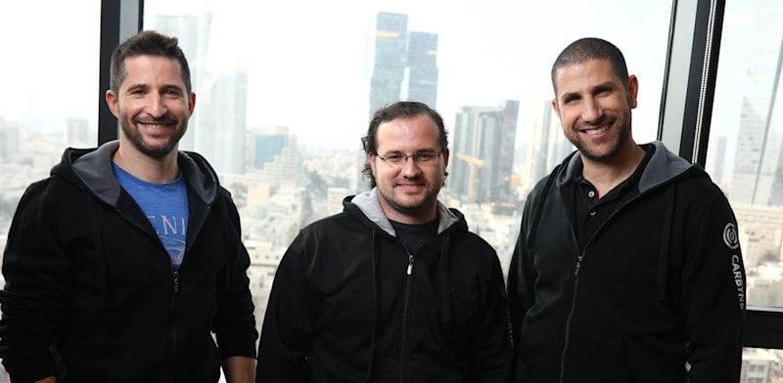 Carbyne founders, Alex Dizengoff , Yony Yatsun and Amir Elichai  credit: Avishai Finkelstein