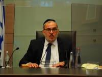 """יעקב אשר, יו""""ר ועדת החוקה / צילום: דוברות הכנסת עדינה ולמן"""