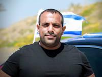 """אביר קארה, מייסד """"אני שולמן"""" בהפגנה של העצמאיים / צילום: שלומי יוסף"""