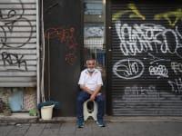 """חנויות סגורות ברחוב קינג ג'ורג בת""""א בתחילת נובמבר / צילום: כדיה לוי"""