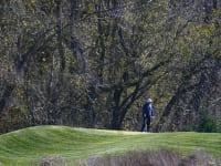 טראמפ משחק גולף בוושינגטון בזמן ההכרזה על ביידן כנשיא־מועמד. המציאות מחלחלת לאט / צילום: Associated Press, Patrick Semansky