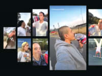 אפוקדה (במרכז), בקמפיין העוקב של בעלת טיקטוק / צילום: צילום מסך