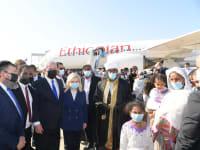 """קבלת פנים לעולים חדשים מאתיופיה / צילום: עמוס בן גרשום - לע""""מ"""