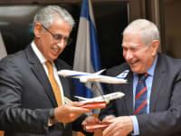 דוד ברודט וזיאד אל זיאני / צילום: דוברות אל על