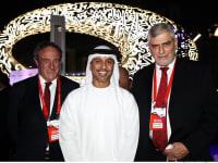 """מימין:  דב קוטלר, ד""""ר אחמד בלהאול אל-פאלאס וראובן קרופיק / צילום: סיון פרג'"""