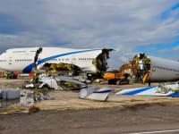 הג'מבו 747-400 של אל על שנגרט השבוע / צילום: מוני שפיר