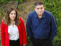 """מנכ""""לית NGS, לירון פנדל והמייסד פרופ' משה פיליפ / צילום: שלומי יוסף"""