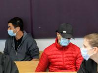 הנאשמים בן דוד וגרינפילד בבית המשפט / צילום: שלומי יוסף