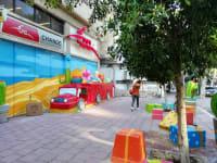 רחבת הדואר ברחוב ביאליק רמת גן אחרי השיפוץ / צילום: טלי בוגדנובסקי