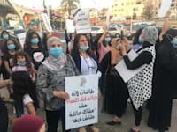 הפגנה נגד רצח נשים בטייבה, יולי 2020 / צילום: מייסם ג'לג'ולי