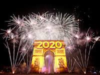 חגיגות לתחילת שנת 2020 בפריז, ב-31 בדצמבר 2019 / צילום: Reuters, Benoit Tessier