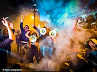 מפגינים בבלפור הערב / צילום: בן כהן