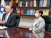 גנץ בשיחת פתיחה עם בכירי משרד המשפטים / צילום: אריאל חרמוני, משרד הביטחון