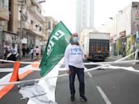 """הפגנה - סוחרים לפתיחת המסחר דרך יפו 5 ת""""א / צילום: כדיה לוי"""