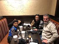 אפרת ג׳רפי עם בן הזוג דני והבנים איידן ואדם / צילום: תמונה פרטית