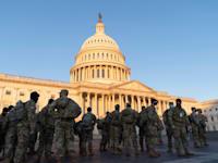 המשמר הלאומי נפרש בגבעת הקפיטול, שלישי / צילום: Reuters, Sipa USA