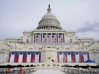 ההכנות להשבעה בשיאן בגבעת הקפיטול / צילום: Associated Press, Patrick Semansky