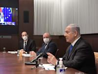 """נתניהו בוועידה עם מנהיגים מ-7 מדינות בעולם. הציע להקים תאגיד מחקרי בינ""""ל משותף למאבק במגפות / צילום: קובי גדעון-לע""""מ"""
