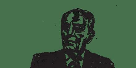 שמעון פרס / איור: גיל ג'יבלי
