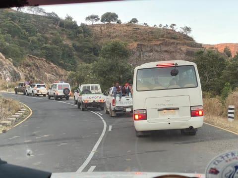 שיירת החילוץ באתיופיה / צילום: חברת ברן