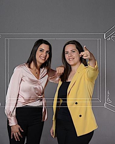משמאל: סוהיר ניג'ם ומרתה נסאר / צילום: איל יצהר